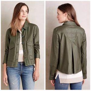 Anthro Hei Hei S Waxed Utility Jacket Green $128